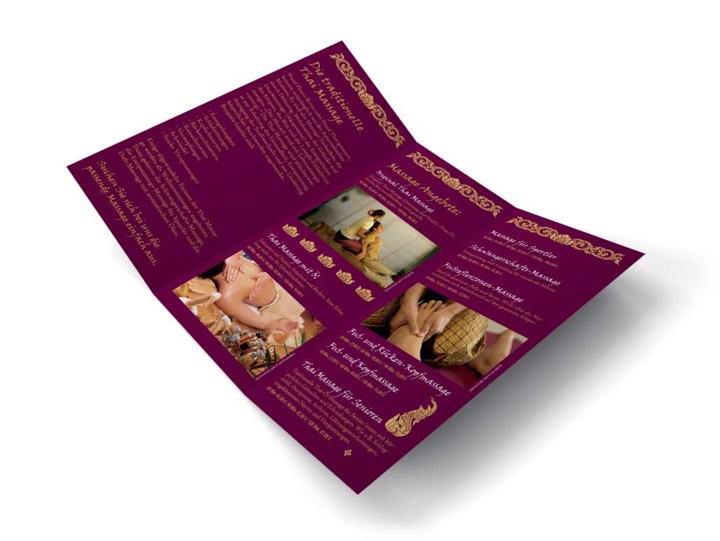 Grafikdesign Flyer Gestaltung Schrifttypen - Baan Thai Freiburg