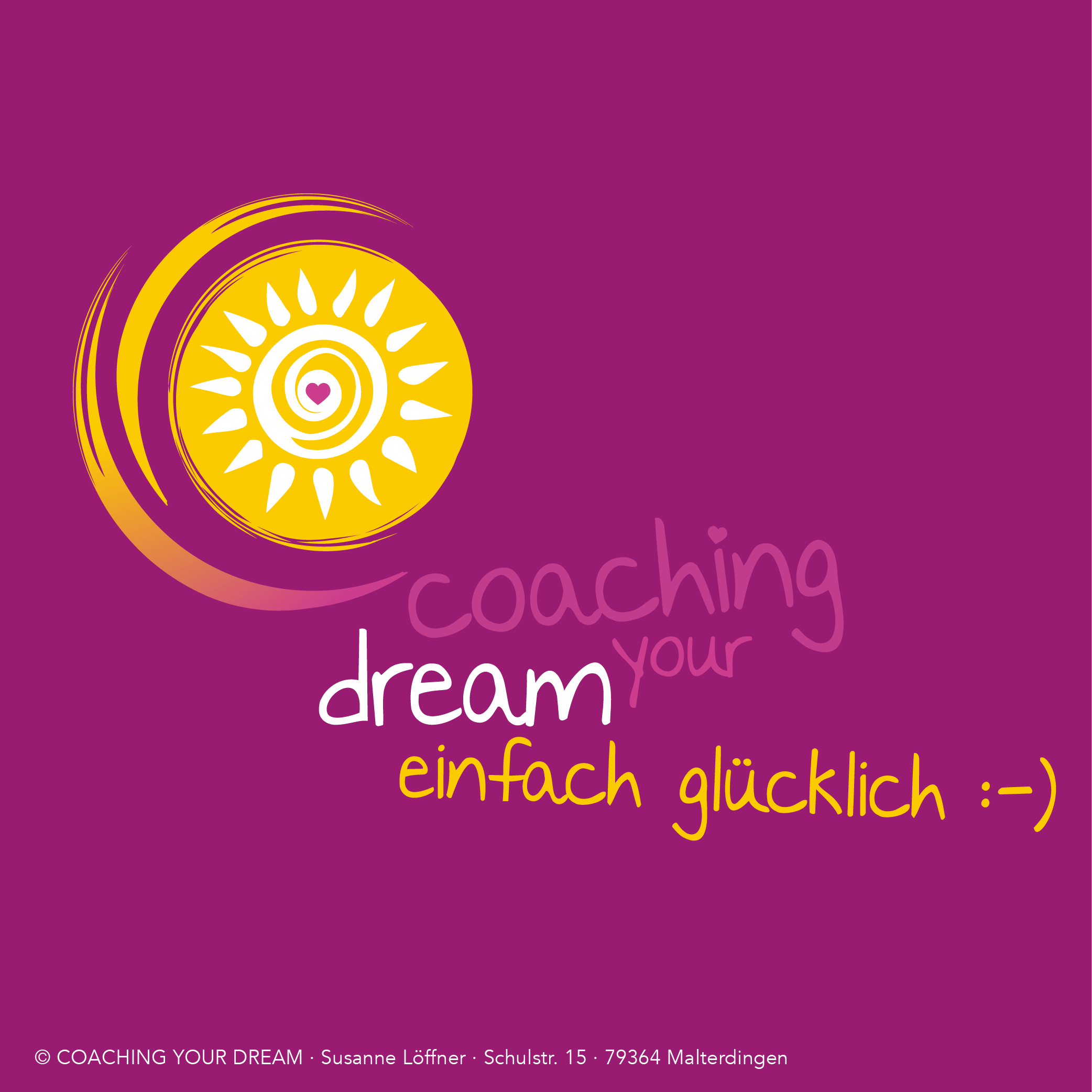 Coaching your Dream Logoentwicklung von Petty Heisler, Freiburg