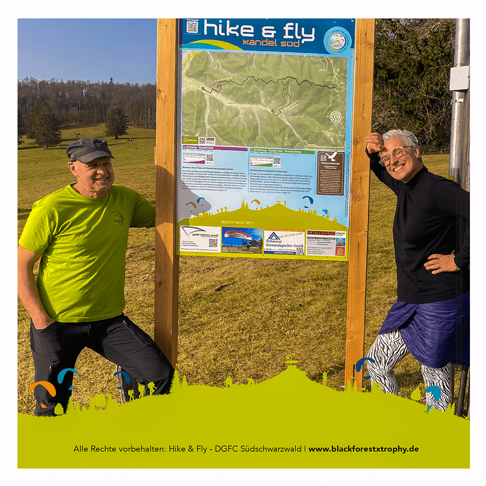 Walderlebnistafeln am Kandel Südschwarzwald für das Hike & Fly Festival Black-Forest-X-Trophy 2020. Austragung DGFC Südschwarzwald
