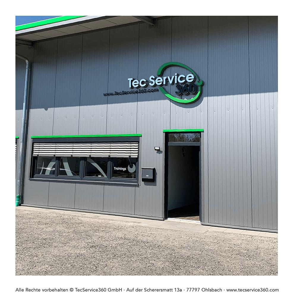 Fassadengestaltung für die TecService360 GmbH